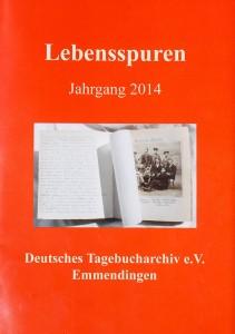 Tagebucharchiv Bild der Broschüre Lebensspuren Jahrgang 2014