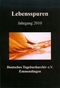 Tagebucharchiv Bild der Broschüre Lebensspuren Jahrgang 2010