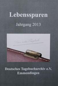 Tagebucharchiv Bild der Broschüre Lebensspuren Jahrgang 2013