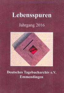 Tagebucharchiv Bild der Broschüre Lebensspuren Jahrgang 2016