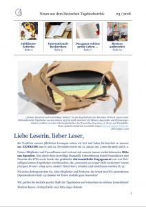Titelseite Neuigkeitenbrief 3/2018