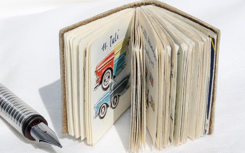 """ein sehr kleines Tagebuch mit Titel """"die Mooroase"""""""