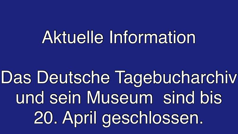 Schliessung bis 20. April