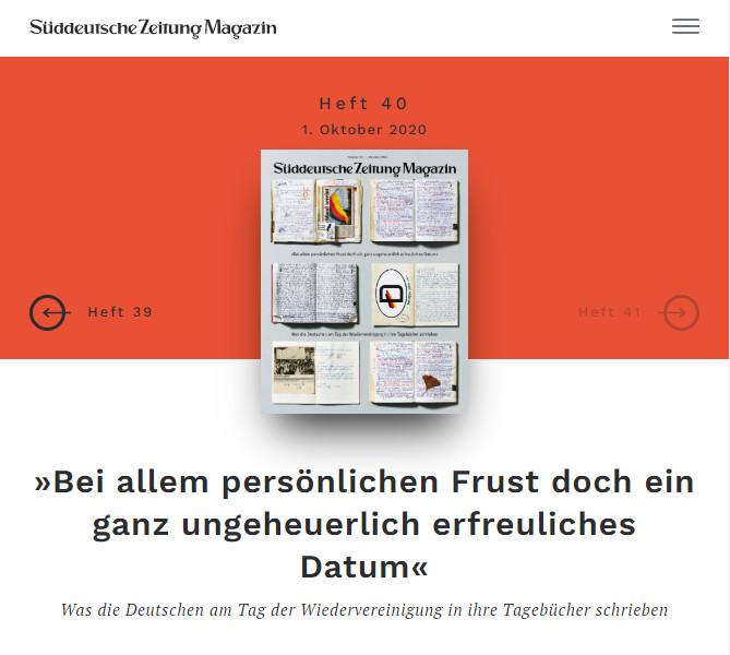 Das Titelbild des SüddeutscheZeitung-Magazin No 40